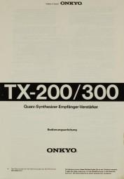 Onkyo TX-200 / 300 Bedienungsanleitung
