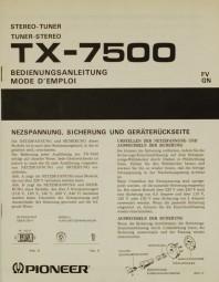 Pioneer TX-7500 Bedienungsanleitung