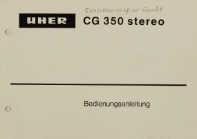 Uher CG 350 stereo Bedienungsanleitung