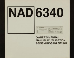 NAD 6340 Bedienungsanleitung