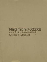 Nakamichi 700 ZXE Bedienungsanleitung