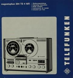 Telefunken Magnetophon 204 TS 4 HiFi Bedienungsanleitung