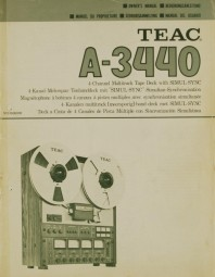 Teac A-3440 Bedienungsanleitung