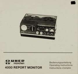 Uher 4000 Report Monitor Bedienungsanleitung