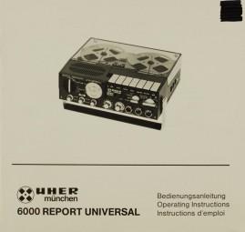 Uher 6000 Report Universal Bedienungsanleitung