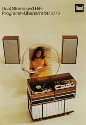 Dual Programm-Übersicht 1972/73 Prospekt / Katalog