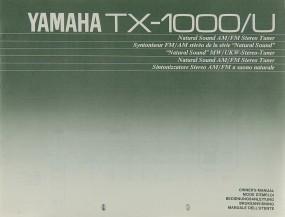 Yamaha TX-1000 Bedienungsanleitung