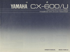 Yamaha CX-600 Bedienungsanleitung