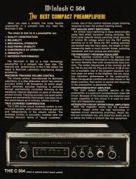 McIntosh C 504 Prospekt / Katalog