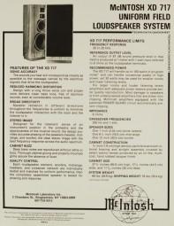 McIntosh XD 717 Prospekt / Katalog