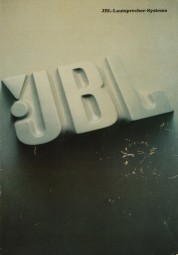 JBL Lautsprecher-Systeme Prospekt / Katalog