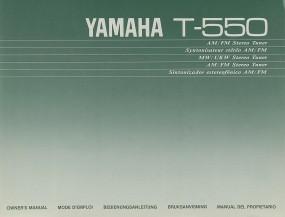 Yamaha T-550 Bedienungsanleitung