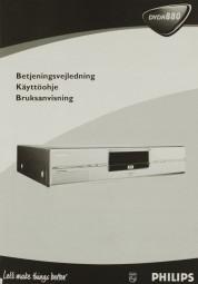 Philips DVDR 880 Bedienungsanleitung