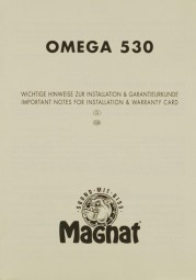 Magnat Omega 530 Bedienungsanleitung
