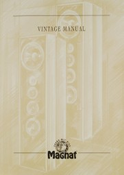 Magnat Vintage Manual Bedienungsanleitung