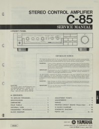 Yamaha C-85 Bedienungsanleitung