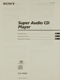 Sony SCD-XB 940 Bedienungsanleitung