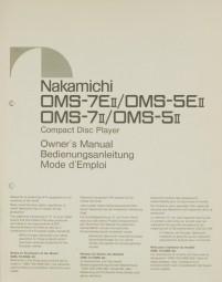 Nakamichi OMS-7 E II / OMS-5 E II / OMS-7 II / OMS-5 II Bedienungsanleitung