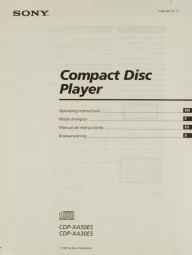 Sony CDP-XA 50 ES / CDP-XA 30 ES Bedienungsanleitung