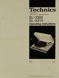 Technics SL-3300 / SL-3310 Bedienungsanleitung