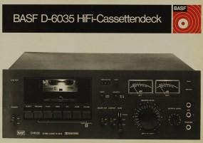 BASF D-6035 Bedienungsanleitung