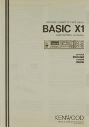 Kenwood Basic X 1 Bedienungsanleitung