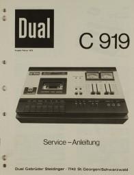Dual C 919 Schaltplan / Serviceunterlagen