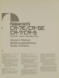 Nakamichi CR-7E / CR-5E / CR-7 / CR-5 Bedienungsanleitung