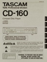 Tascam CD-160 Bedienungsanleitung