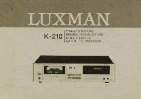Luxman K-210 Bedienungsanleitung