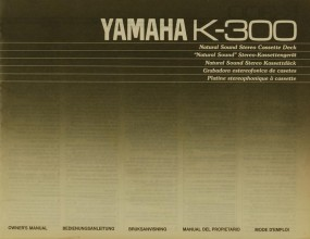 Yamaha K-300 Bedienungsanleitung