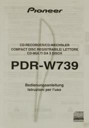 Pioneer PDR-W 739 Bedienungsanleitung
