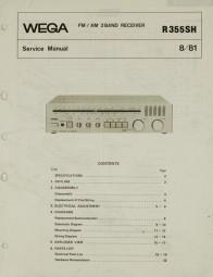 Wega R 355 SH Schaltplan / Serviceunterlagen