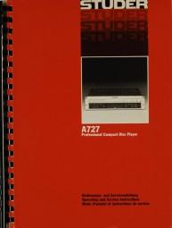 Studer A 727 Bedienungsanleitung