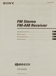 Sony STR-DA 50 ES Bedienungsanleitung