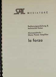 SAC Mediatore La Forza Bedienungsanleitung