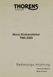 Thorens TMA 2000 Bedienungsanleitung