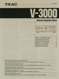 Teac V-3000 Bedienungsanleitung