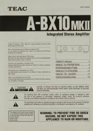 Teac A-BX 10 MK II Bedienungsanleitung