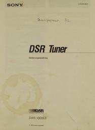 Sony DAR-1000 ES (DSR Tuner) Bedienungsanleitung