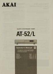 Akai AT-52 / L Bedienungsanleitung