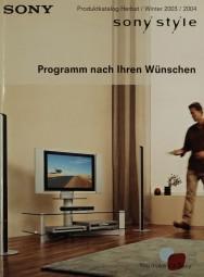 Sony Produktkatalog Herbst/Winter 2003/2004 Prospekt / Katalog