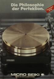 Micro Seiki Programm 81/82 - Die Philosophie der Perfektion. Prospekt / Katalog