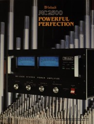 McIntosh MC 2500 - Powerful Perfection Prospekt / Katalog