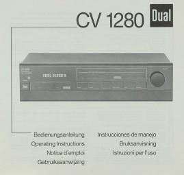 Dual CV 1280 Bedienungsanleitung