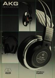 AKG acoustics K Serie Prospekt / Katalog