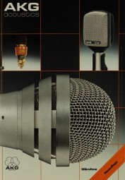 AKG acoustics Mikrofone - Neuauflage Prospekt / Katalog
