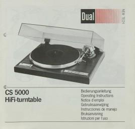 Dual CS 5000 Bedienungsanleitung
