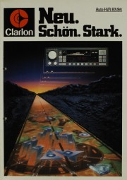 Clarion Auto-HiFi 83/84 - Neu. Schön. Stark. Prospekt / Katalog