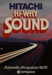 Hitachi Hi-Way Sound / Autoradio-Programm 86/87 Prospekt / Katalog